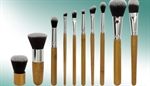 Picture of Natural Bamboo10-Piece Makeup Brush Set